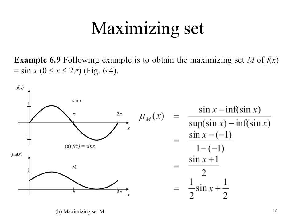 Maximizing set 18