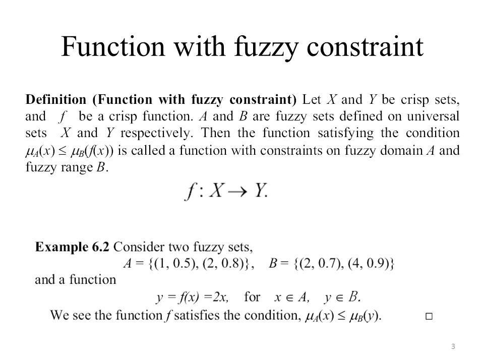 Function with fuzzy constraint 3
