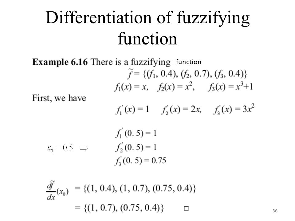 36 Differentiation of fuzzifying function function