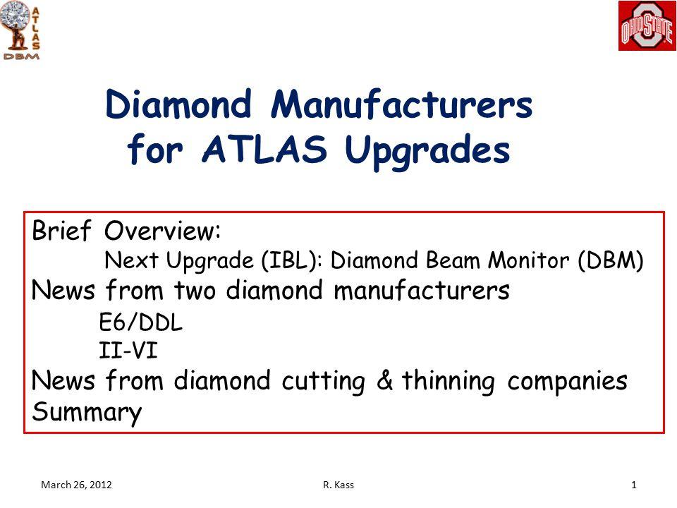 March 26, 2012 Diamond Beam Monitor 2 BCM DBM: 3.2<η<3.5 R.