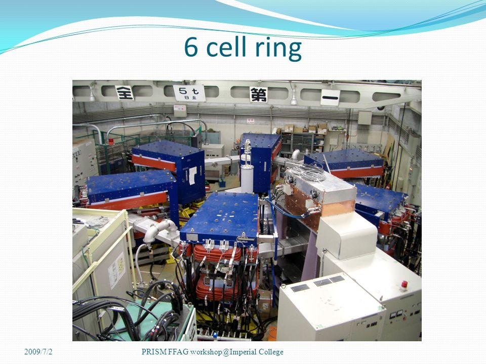 6 cell ring 2009/7/2PRISM FFAG workshop@Imperial College