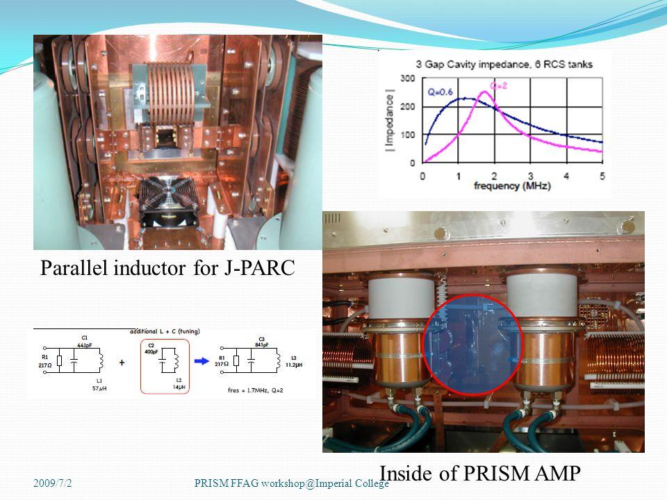 Parallel inductor for J-PARC Inside of PRISM AMP 2009/7/2PRISM FFAG workshop@Imperial College