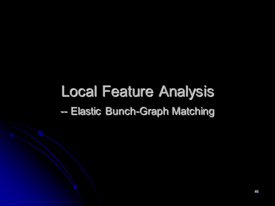 46 Local Feature Analysis -- Elastic Bunch-Graph Matching