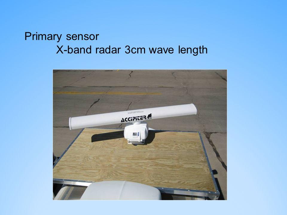 Primary sensor X-band radar 3cm wave length