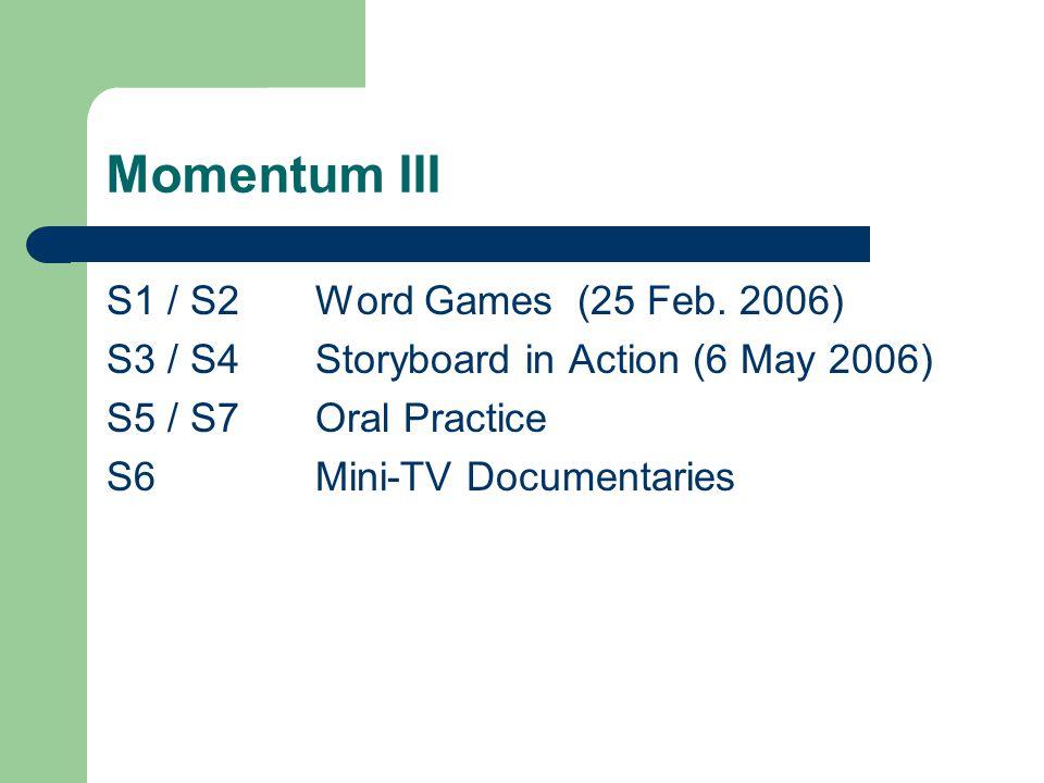 Momentum III S1 / S2Word Games (25 Feb.