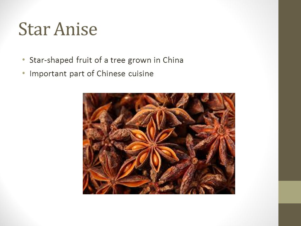 Star Anise Star-shaped fruit of a tree grown in China Important part of Chinese cuisine