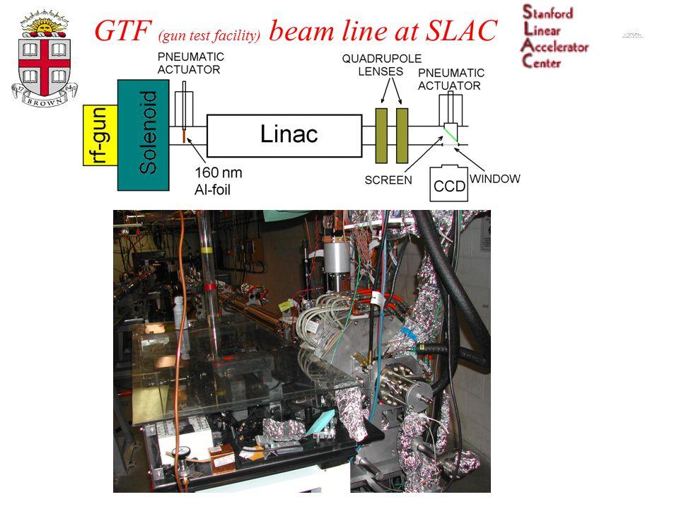GTF (gun test facility) beam line at SLAC