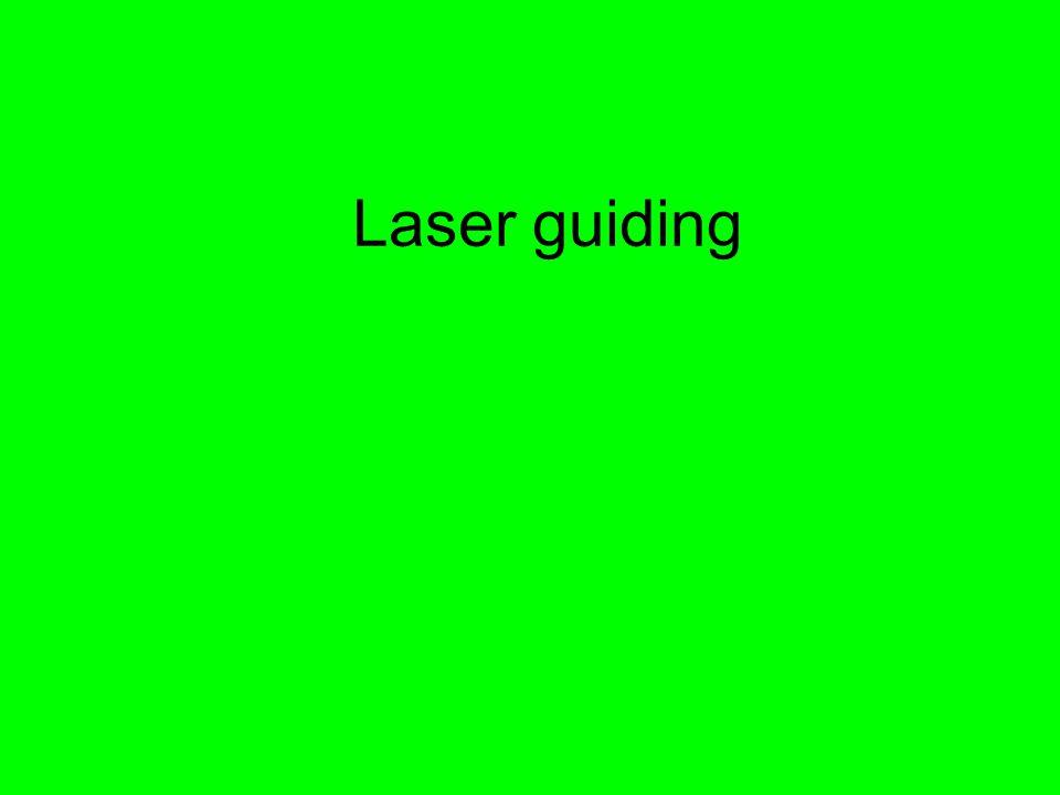 Laser guiding