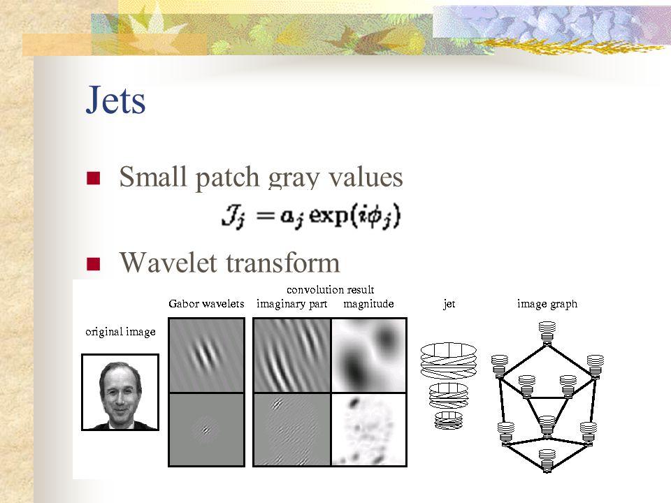 Jets Small patch gray values Wavelet transform