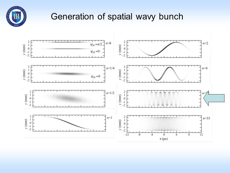 Generation of spatial wavy bunch