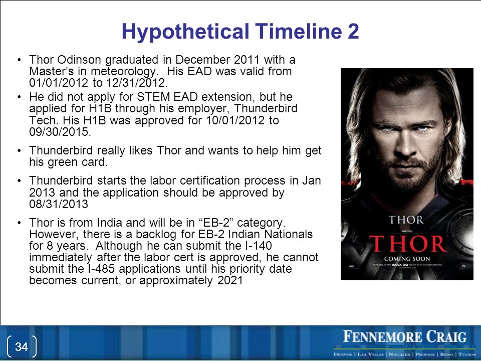 Hypothetical Timeline 2 Thor Odinson graduated in December 2011 with a Master's in meteorology.