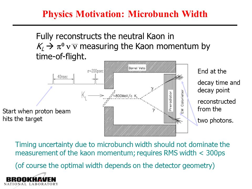 Physics Motivation: Interbunch Extinction Effects of Interbunch Kaons Kinematic cuts are used to reduce background due to K L   0  0 When K L does not come from the microbunch, incorrect kinematic fit does not allow for good rejection.
