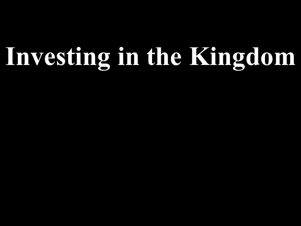 The Church and Money 9.Matters involving Money and Wealth are primarily seen with Western eyes rather than biblical eyes.