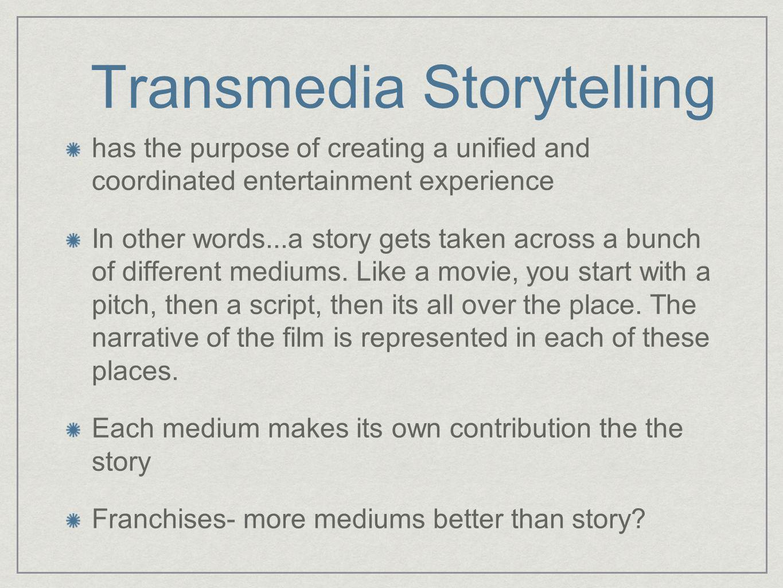 Storytelling vs.