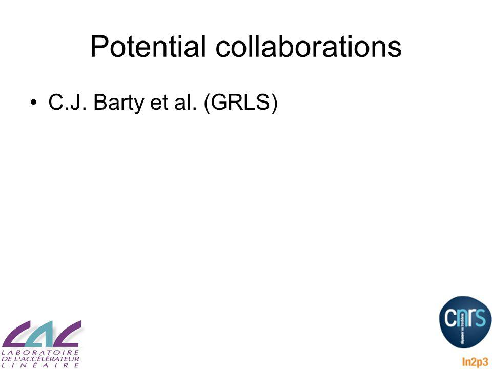 Potential collaborations C.J. Barty et al. (GRLS)