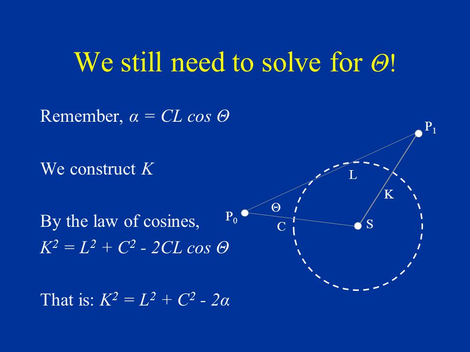 We still need to solve for Θ.