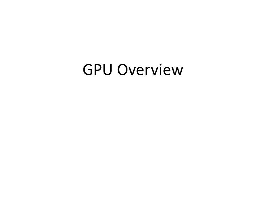 GPU Overview