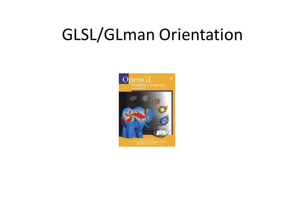 GLSL/GLman Orientation