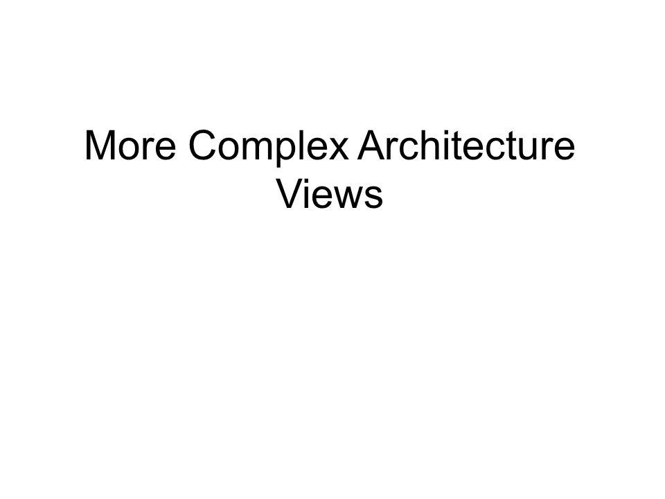 More Complex Architecture Views