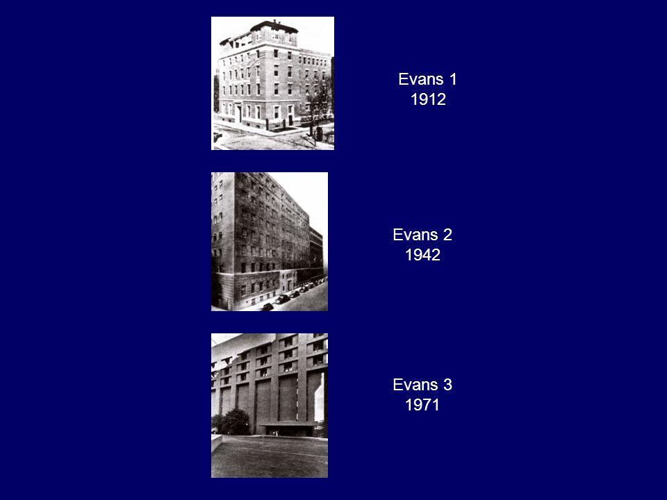Evans 1 1912 Evans 2 1942 Evans 3 1971