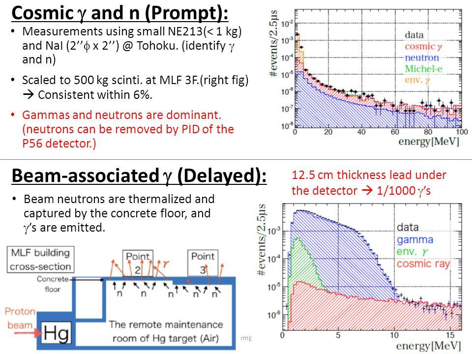 Measurements using small NE213(< 1 kg) and NaI (2''  x 2'') @ Tohoku.