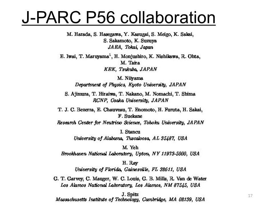 J-PARC P56 collaboration 21st ICEPP Symposium17