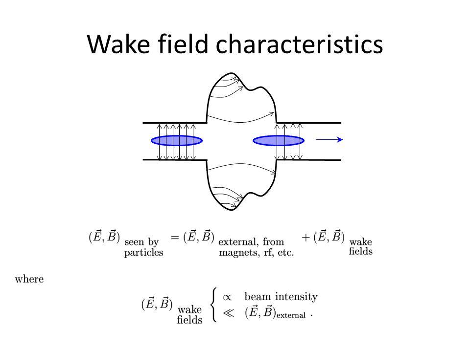Wake field characteristics