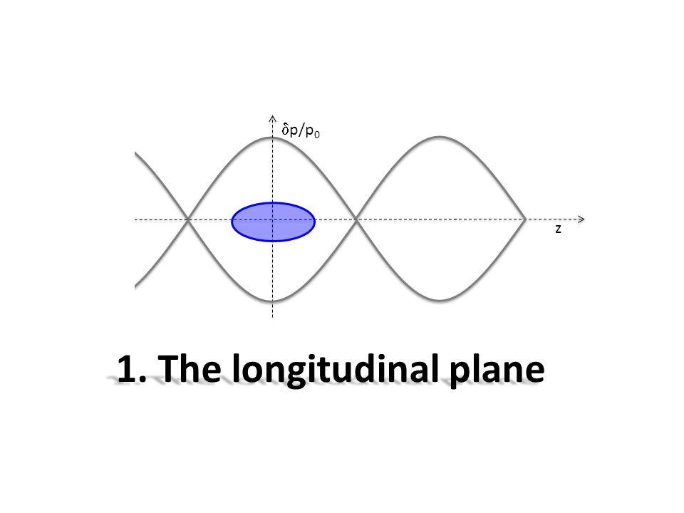 z 1. The longitudinal plane  p/p 0