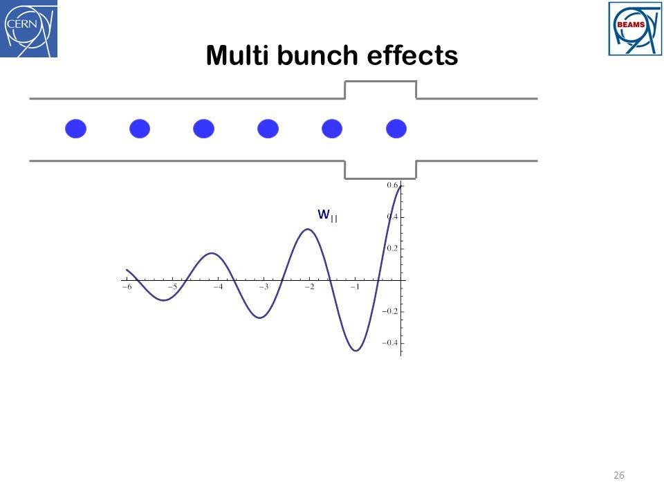 Multi bunch effects 26 W   