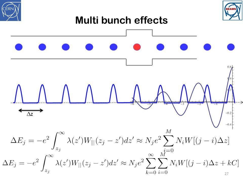 Multi bunch effects 27 zz