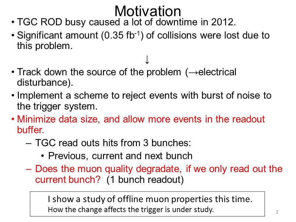 L1 muon distributions 13 Blue: 3 bunch readout Red: 1 bunch readout
