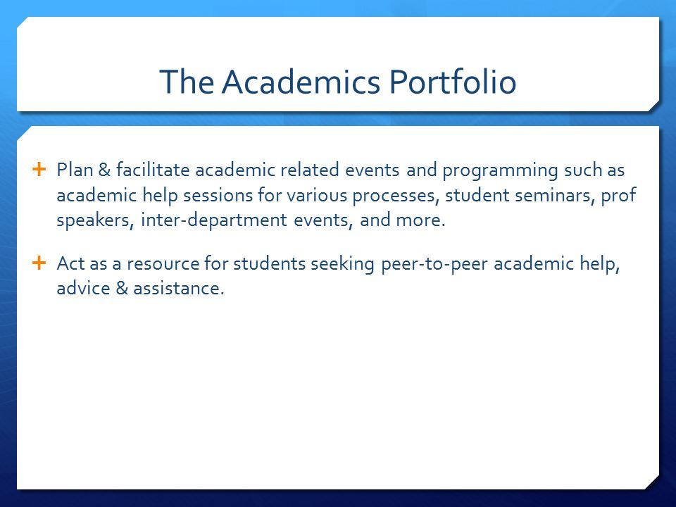 Get Involved in Academics  Run for a VACANT Department Representative position  American Studies [2],  Anthropology [1],  Women's Studies [1].