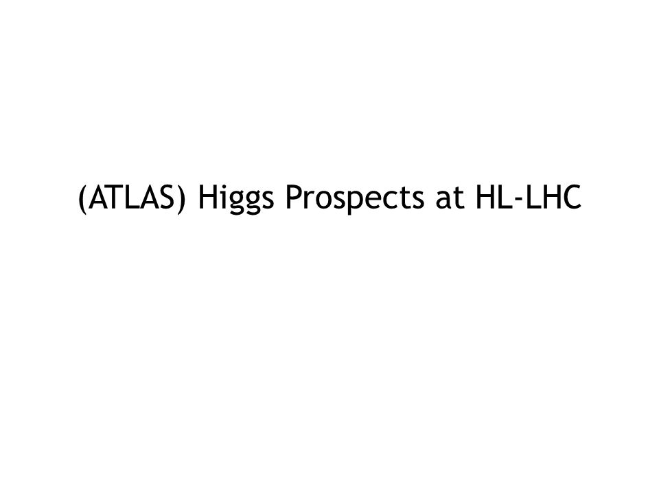 (ATLAS) Higgs Prospects at HL-LHC