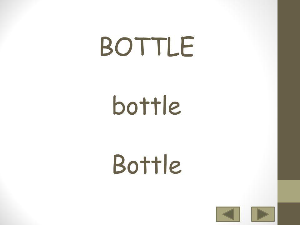 12 3456 7 8 9 10 BOTTLE bottle Bottle