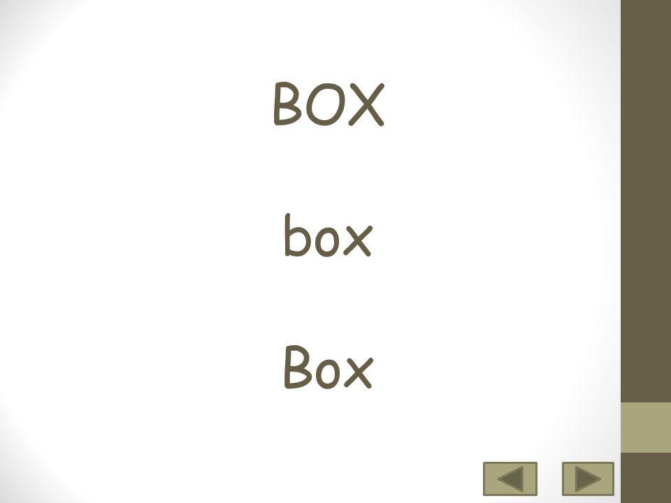 BOX box Box 12 3456 7 8 9 10