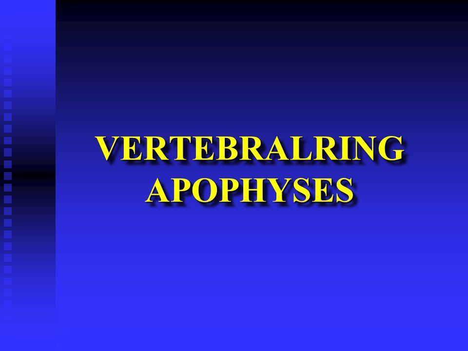VERTEBRALRING APOPHYSES