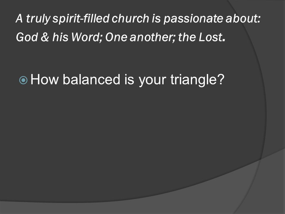  How balanced is your triangle?