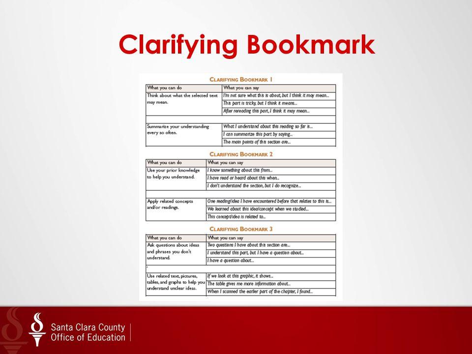 Clarifying Bookmark
