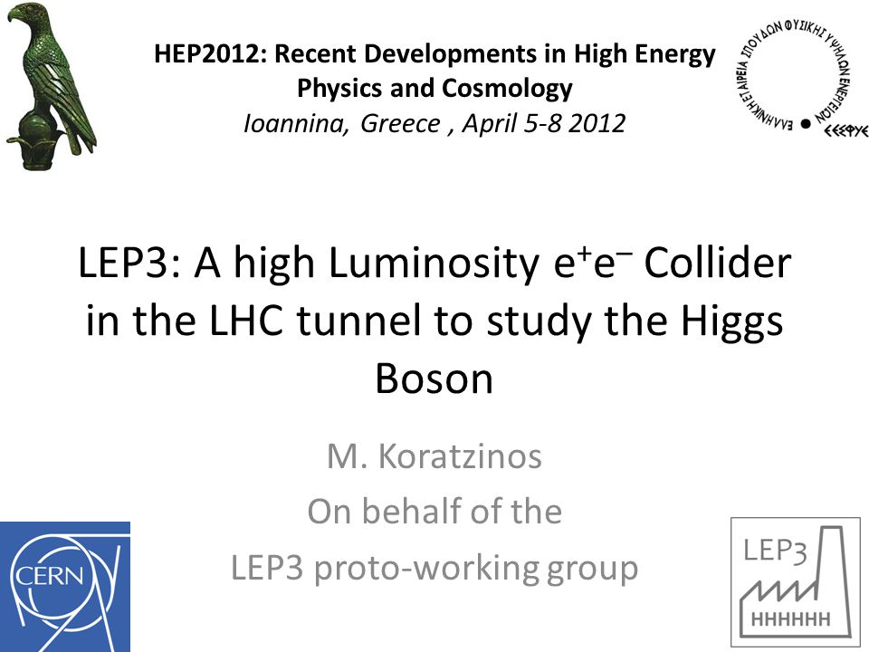 LEP3: A high Luminosity e + e – Collider in the LHC tunnel to study the Higgs Boson M.