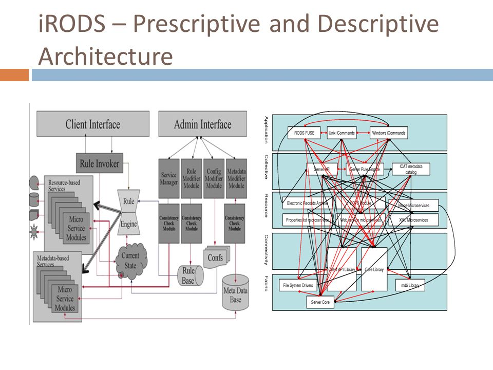 iRODS – Prescriptive and Descriptive Architecture