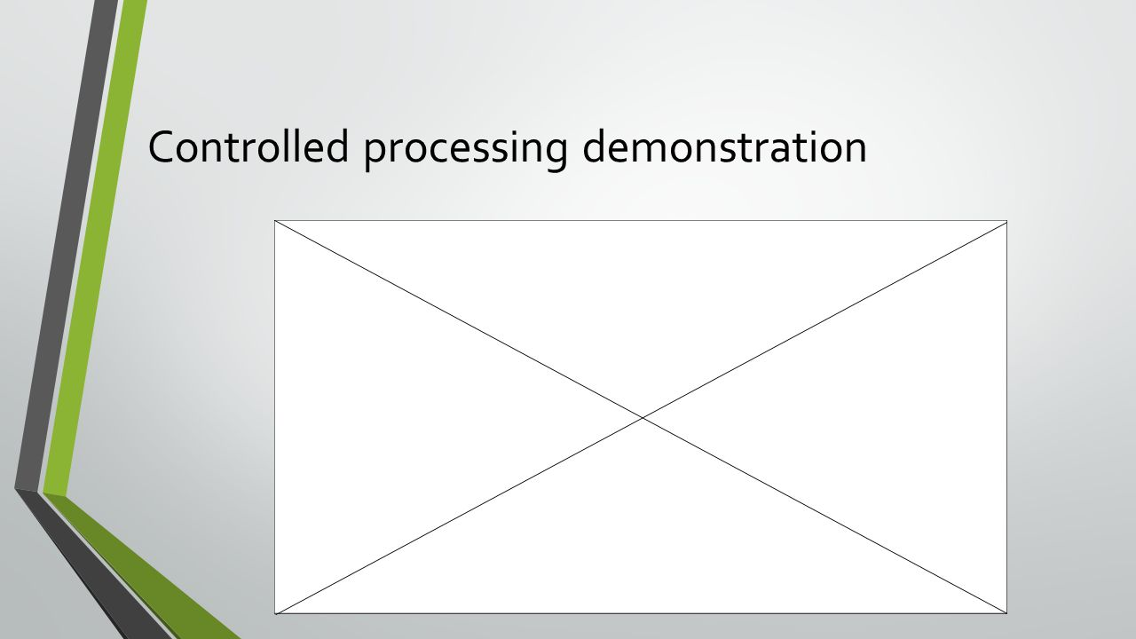 Controlled processing demonstration