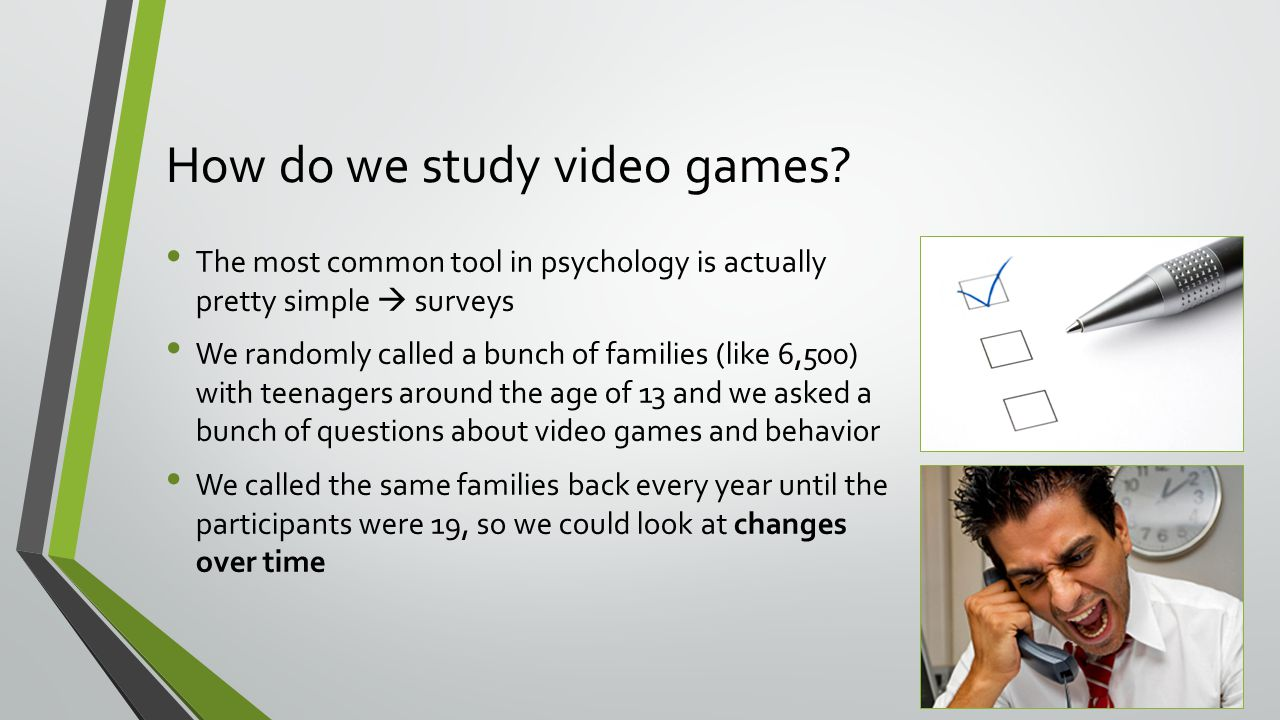 How do we study video games.