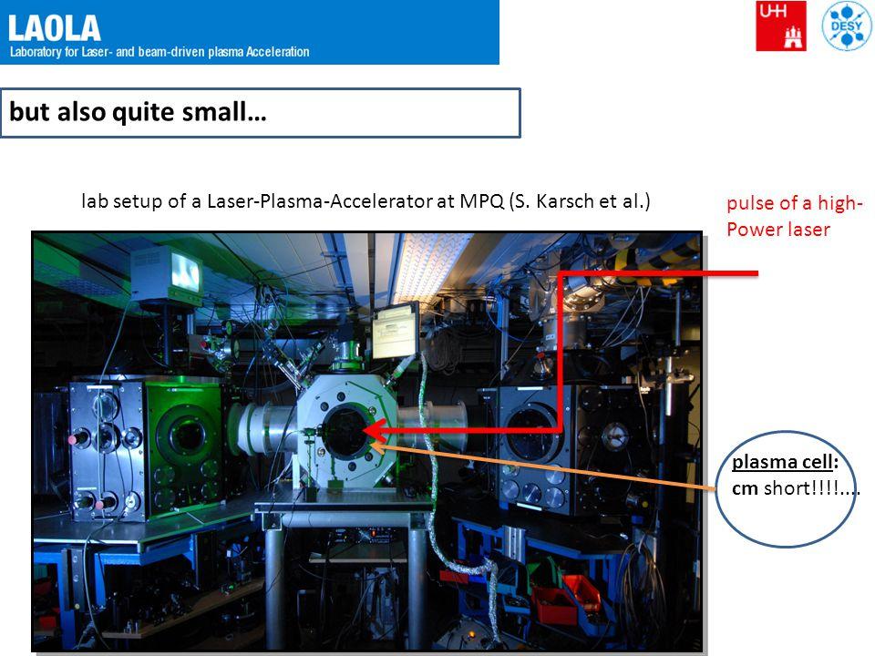 plasma wakefield acceleration high-intensity laser: ~ 5 J / 25 fs plasma (capillary) laser pulse with relativistic intensity typical length scale = plasma wavelength wake plasma E z ~ TV/m ~ 5 fs PIC simulation (M.