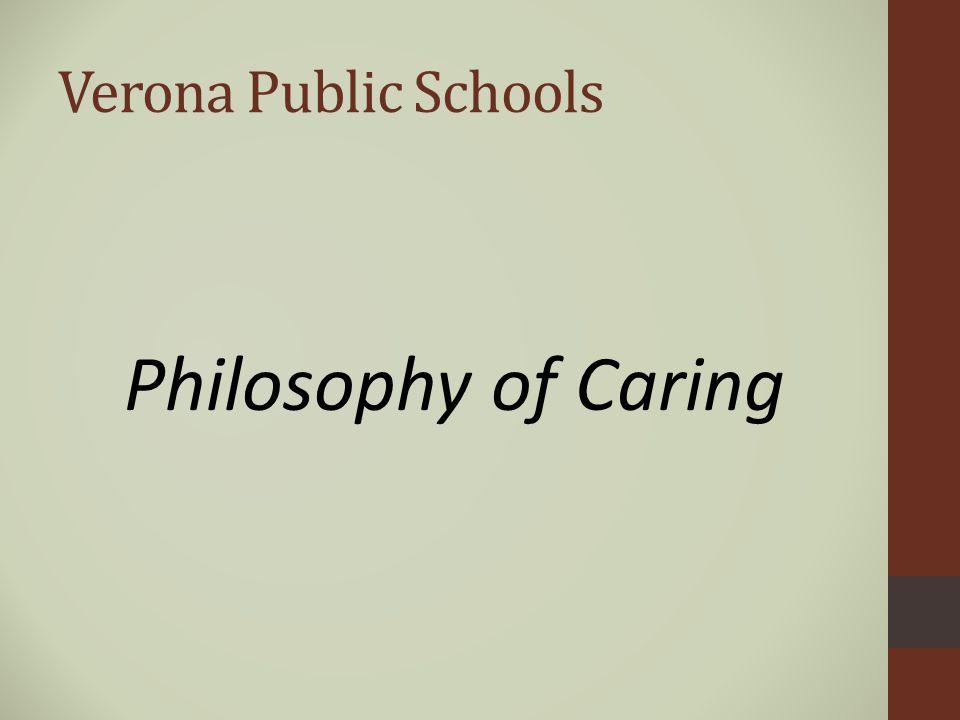 Verona Public Schools Philosophy of Caring