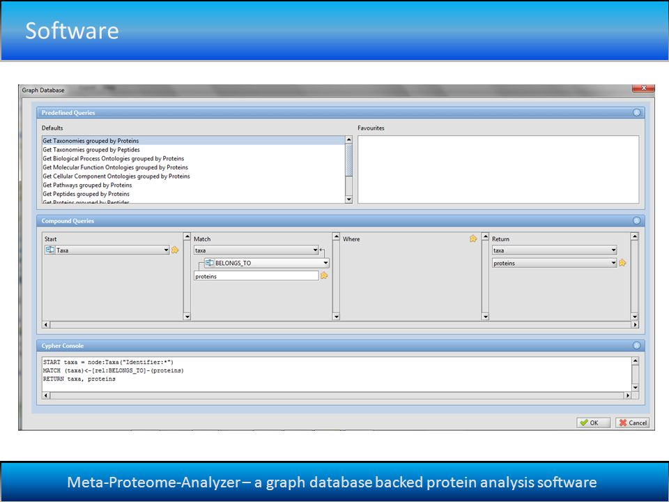 Meta-Proteome-Analyzer – a graph database backed protein analysis software Software
