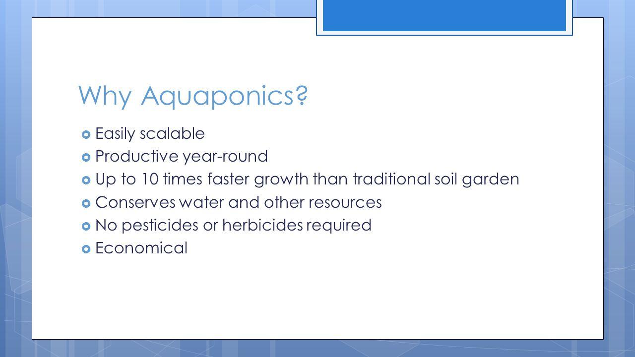 Why Aquaponics.