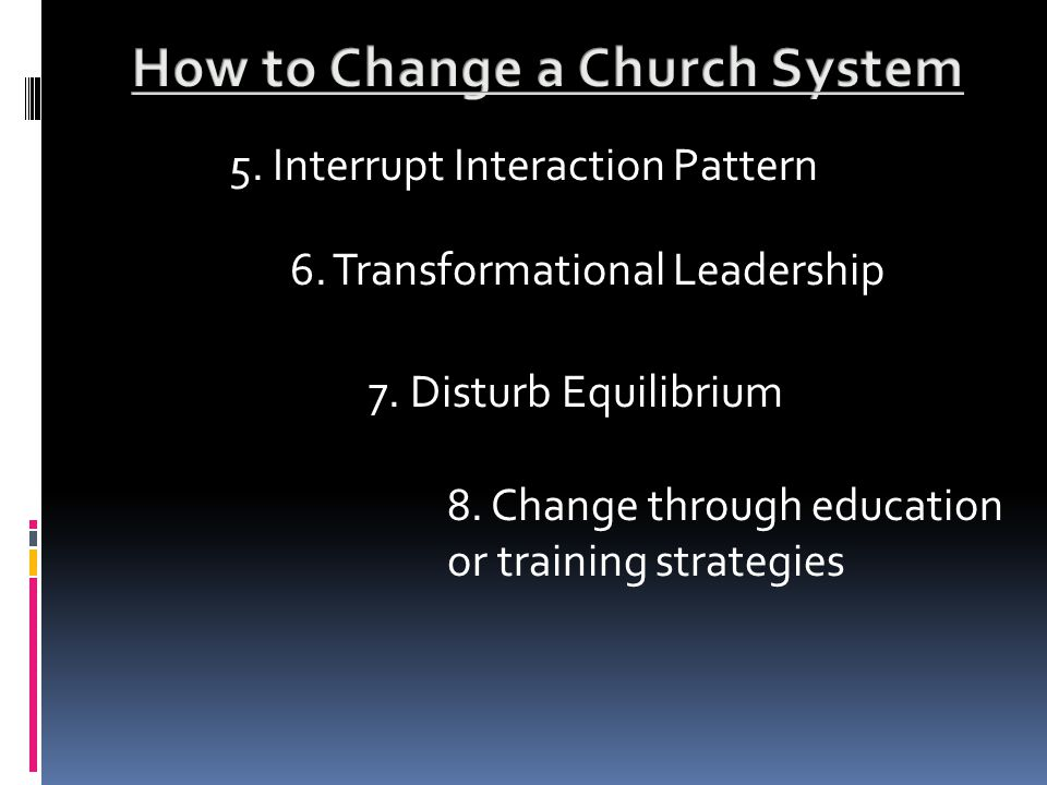 5. Interrupt Interaction Pattern 6. Transformational Leadership 7.
