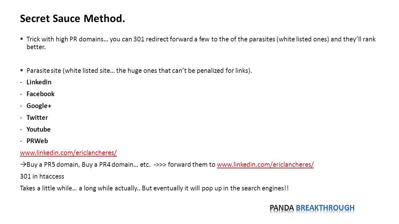 Parasite Method Step 1.