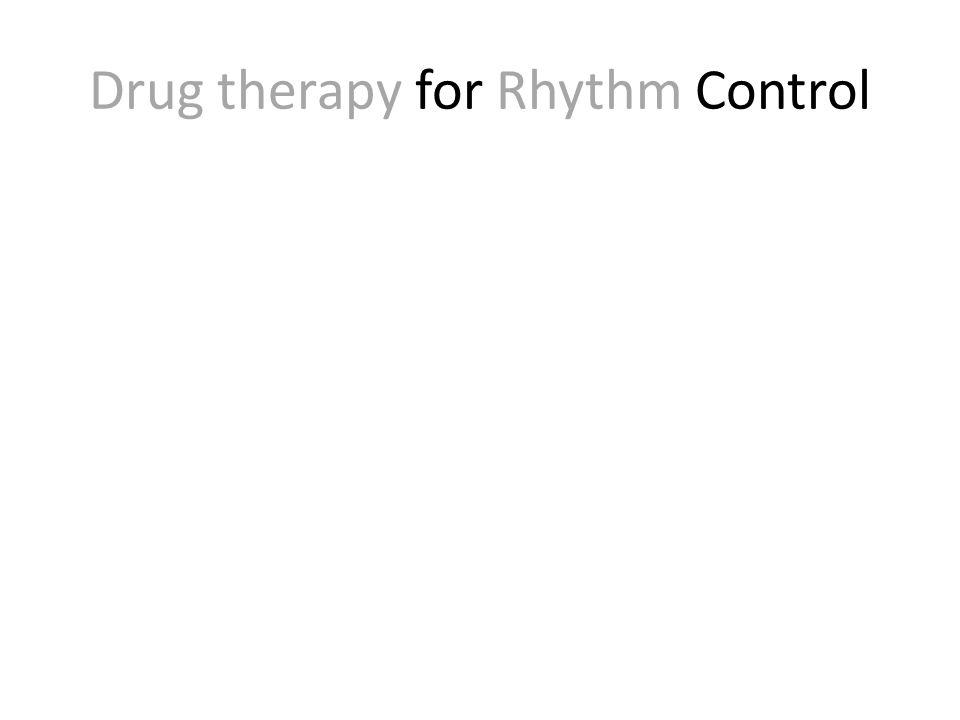 J Am Coll Cardiol 2011;58:1975–85 Composite Mortality Drug therapy for Rhythm Control