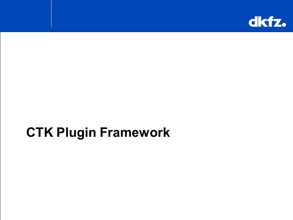 K.H. Maier-Hein CTK Plugin Framework